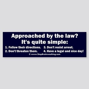 Police Conduct Sticker (Bumper)