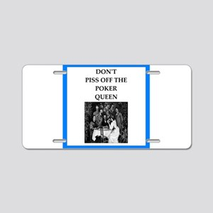 poker Aluminum License Plate