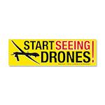 Start Seeing Drones! Car Magnet 10 X 3