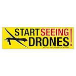 Start Seeing Drones! Bumper Sticker Ten Pack