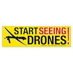 Start Seeing Drones! Bumper Sticker