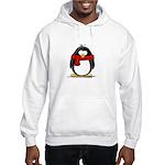 Red Scarf Penguin Hooded Sweatshirt