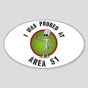 Alien Probe Oval Sticker