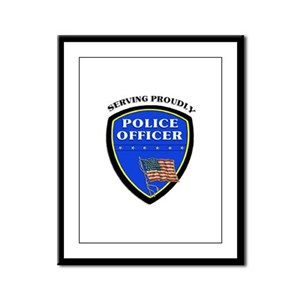 Police Serving Proudly Framed Panel Print