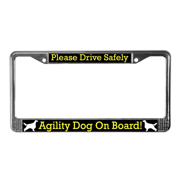 irish setter agility dog license plate frame by. Black Bedroom Furniture Sets. Home Design Ideas