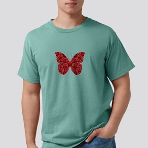 Swirling Pink & Red Butterfly T-Shirt