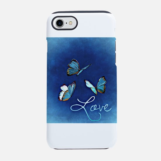 Love & Butterflies (Blue iPhone 8/7 Tough Case