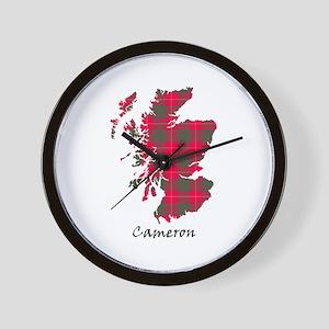 Map - Cameron Wall Clock