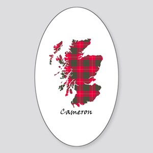 Map - Cameron Sticker (Oval)