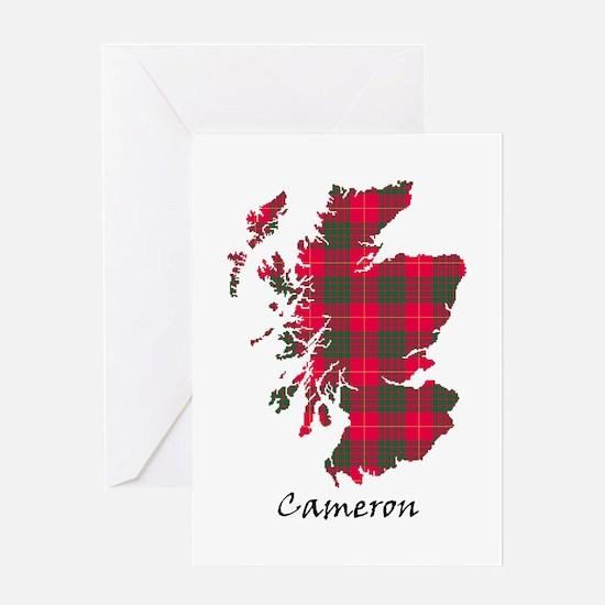 Map - Cameron Greeting Card