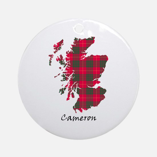 Map - Cameron Ornament (Round)