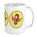 Who's Worried Large Shrug Mug
