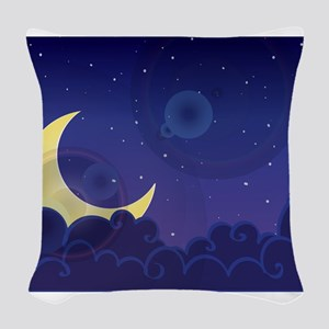 good night sweet dreams Woven Throw Pillow