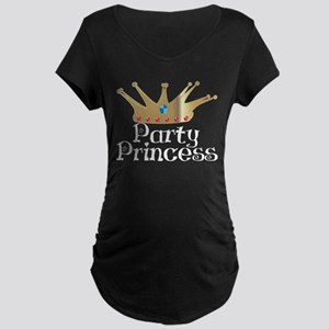 Party Princess Maternity Dark T-Shirt