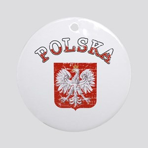 Polska coat of arms Ornament (Round)