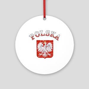 Polska coat of arms Ornament (Round)