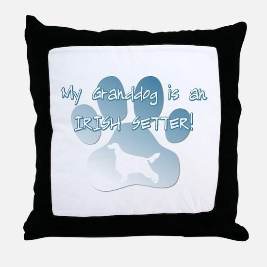 Irish Setter Granddog Throw Pillow