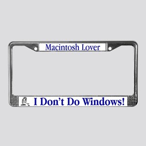 I Don't Do Windows! License Plate Frame