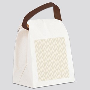 Cream Herringbone Canvas Lunch Bag