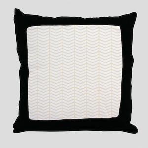 Cream Herringbone Throw Pillow