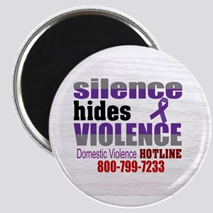Domestic Violence - Silence Hides Violence Magnets