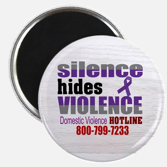 Domestic Violence - Silence Hides Violence Magnets