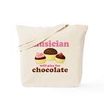 Musician Chocolate Tote Bag