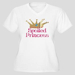 Spoiled Princess Women's Plus Size V-Neck T-Shirt