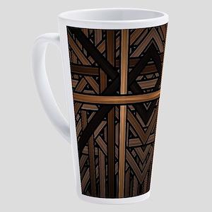 Woven Wood 17 oz Latte Mug