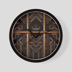 Woven Wood Wall Clock