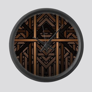 Woven Wood Large Wall Clock