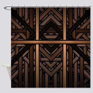 Woven Wood Shower Curtain
