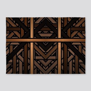 Woven Wood 5'x7'Area Rug