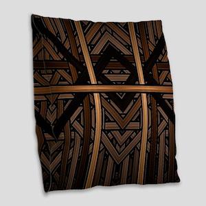Woven Wood Burlap Throw Pillow