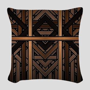 Woven Wood Woven Throw Pillow