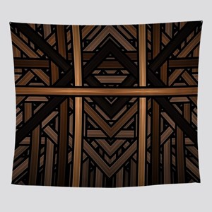 Woven Wood Wall Tapestry