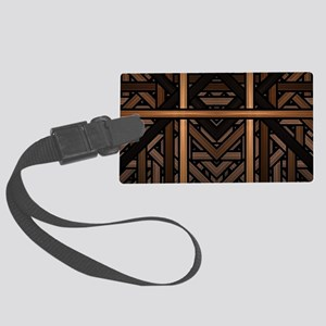 Woven Wood Large Luggage Tag