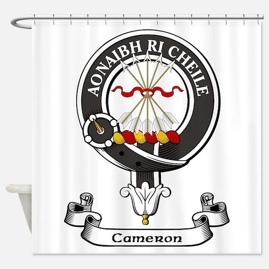 Badge - Cameron Shower Curtain