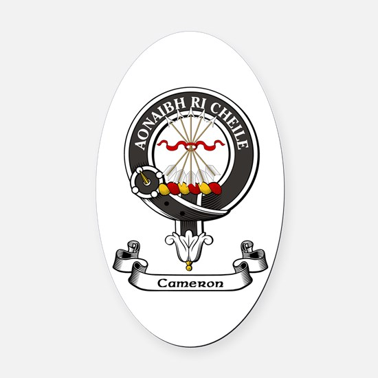 Badge - Cameron Oval Car Magnet