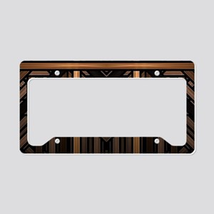 Woven Wood License Plate Holder