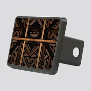 Woven Wood Rectangular Hitch Cover
