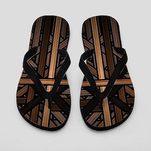Woven Wood Flip Flops