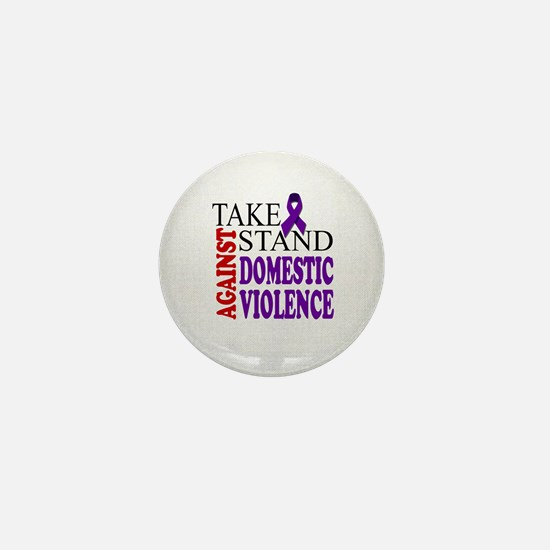 Take A Stand Against Domestic Violence Mini Button