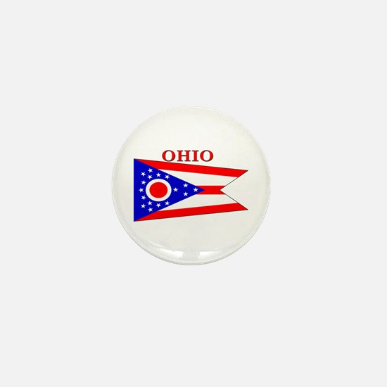 Ohio State Flag Mini Button
