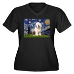 Starry / OES Women's Plus Size V-Neck Dark T-Shirt
