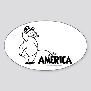 Trickle Down 1 Oval Sticker