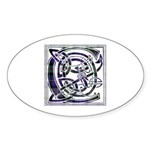Monogram - Cameron of Erracht Sticker (Oval 10 pk)