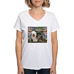 Lilies / OES Women's V-Neck T-Shirt