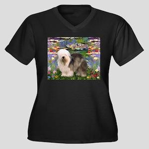 Lilies / OES Women's Plus Size V-Neck Dark T-Shirt