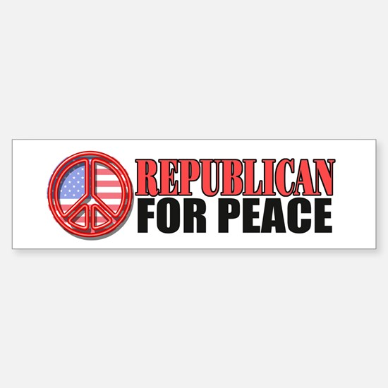 Republican for Peace Bumper Bumper Bumper Sticker